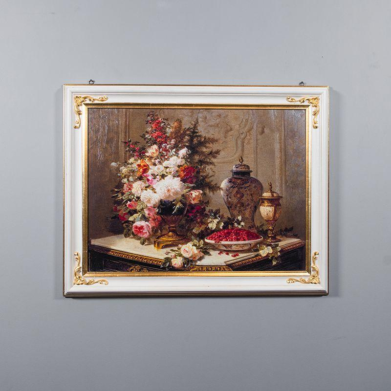 Репродукция картины Decor Toscana Цветы и малина 60×80 см
