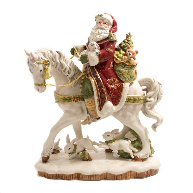 Статуэтка Дед Мороз на коне
