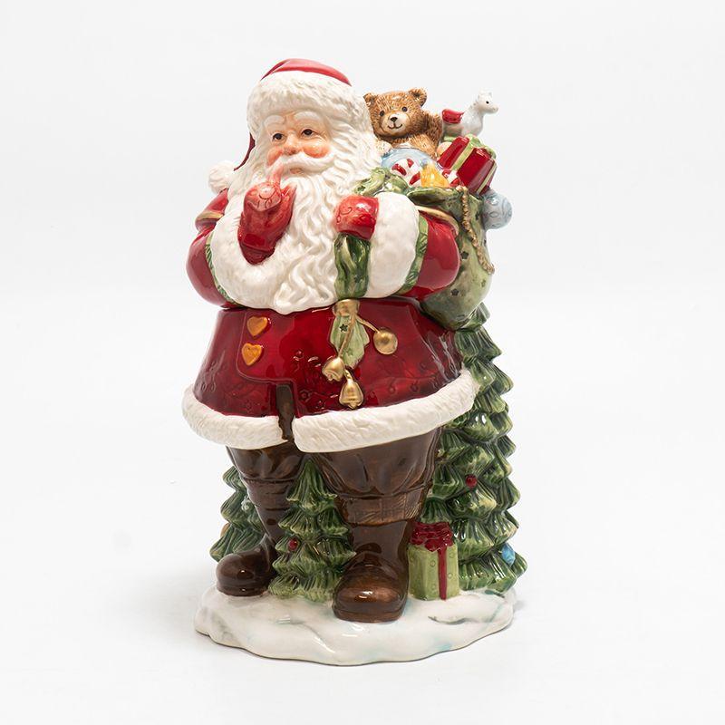 """Шкатулка """"Санта с мешком подарков за спиной"""""""