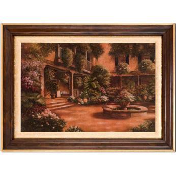 """Большая картина """"Цвети, мой Райский Сад!"""" Бетси Браун, репродукция"""