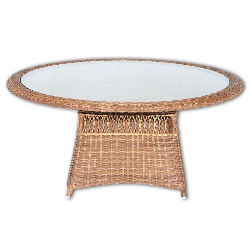 Стол обеденный круглый Ebony Red Pulut