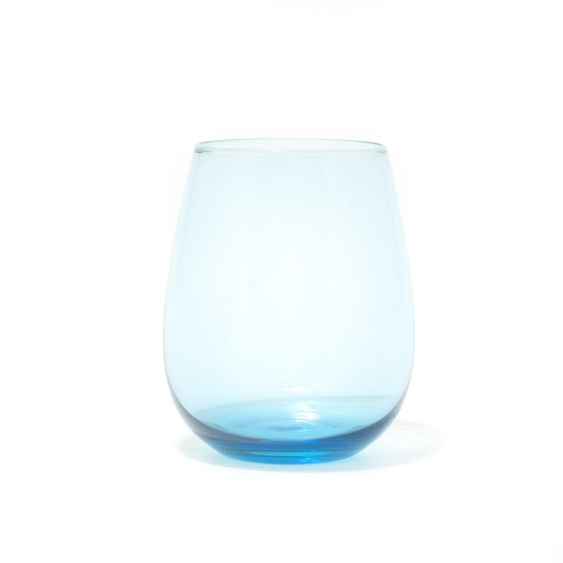 Набор из 6-ти голубых стаканов для воды Villa d'Este