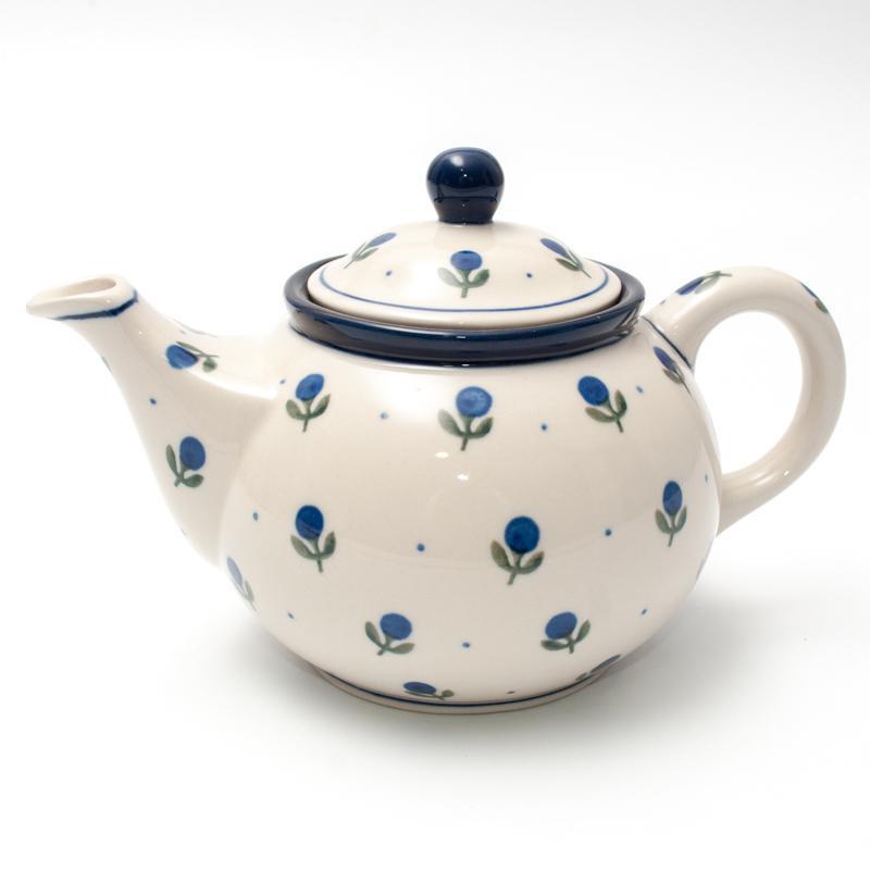 """Заварник для чая с росписью из синих ягод """"Голубика"""""""