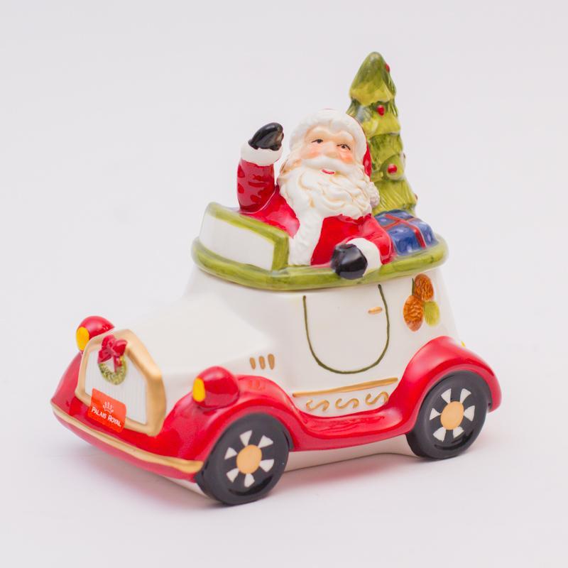 Машинка-шкатулка новогодняя