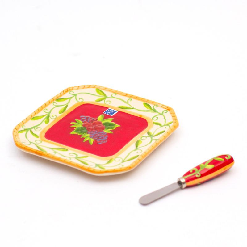 "Тарелка для сыра ""Зимняя ягода"""