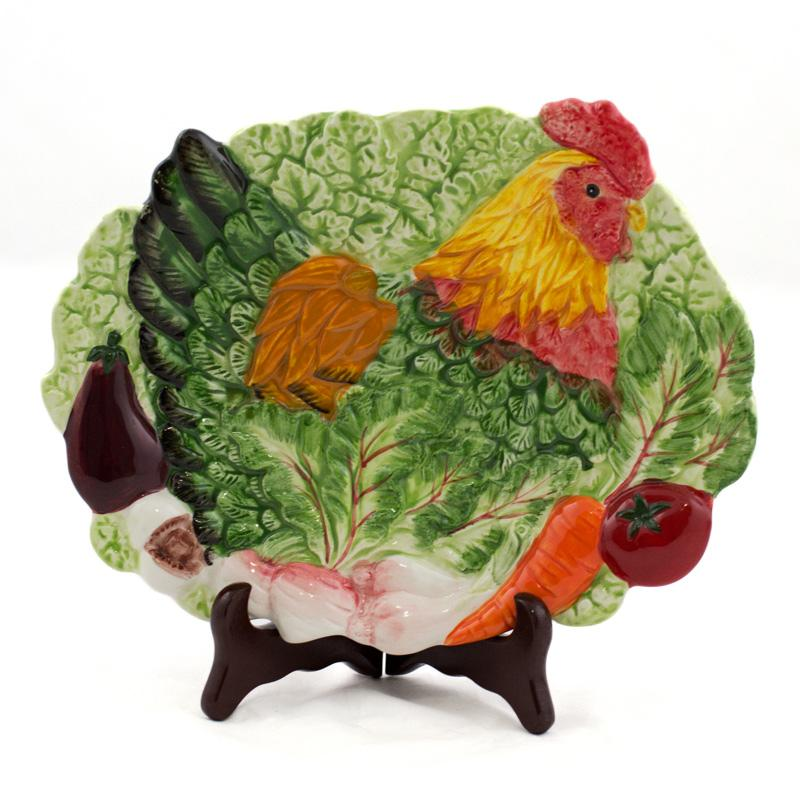 3D тарелка Курочка