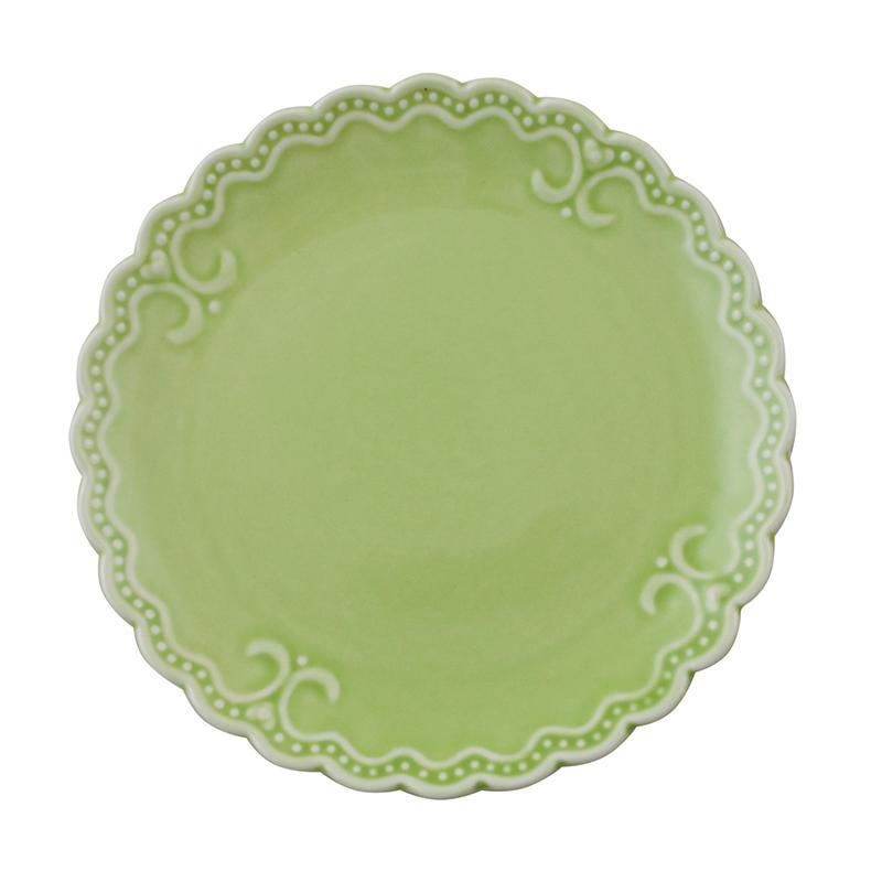 """Тарелка для сладкого салатового цвета """"Зефир"""""""