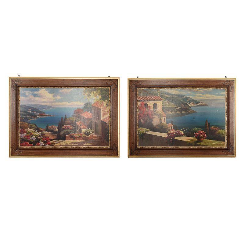 """Набор из 2 репродукций картин """"Голубая Бухта"""" Rosa Chavez & Leon Ruiz"""