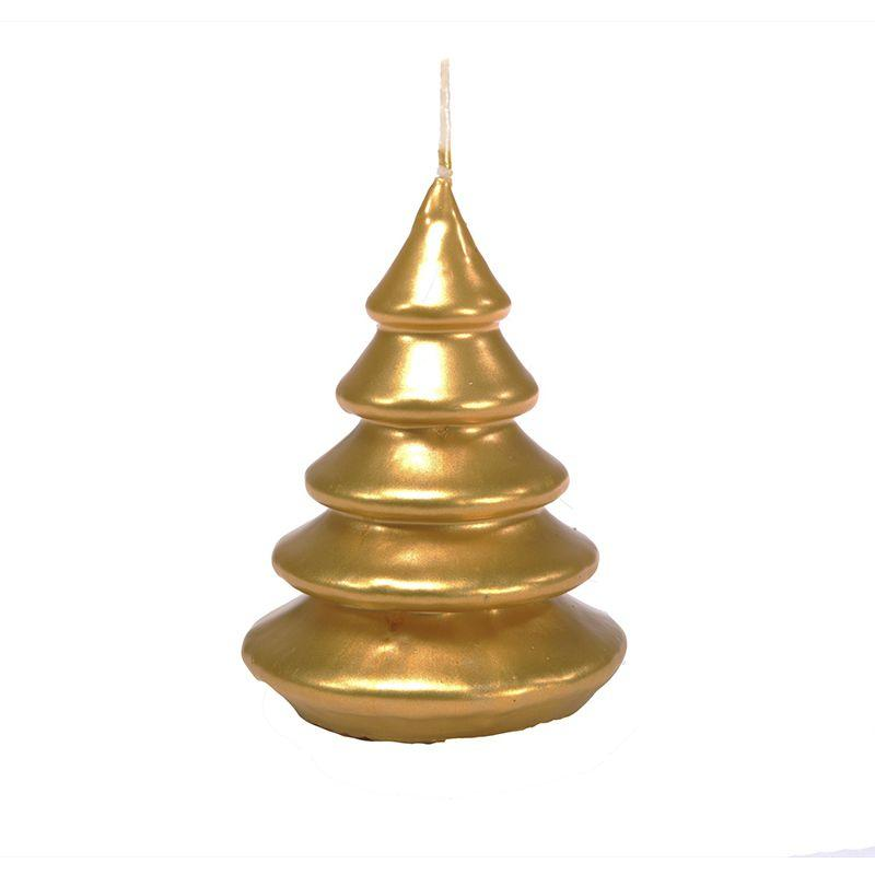 Свеча золотого цвета в виде елочки