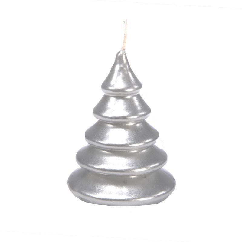 Новогодняя свеча-ель из парафина Mercury