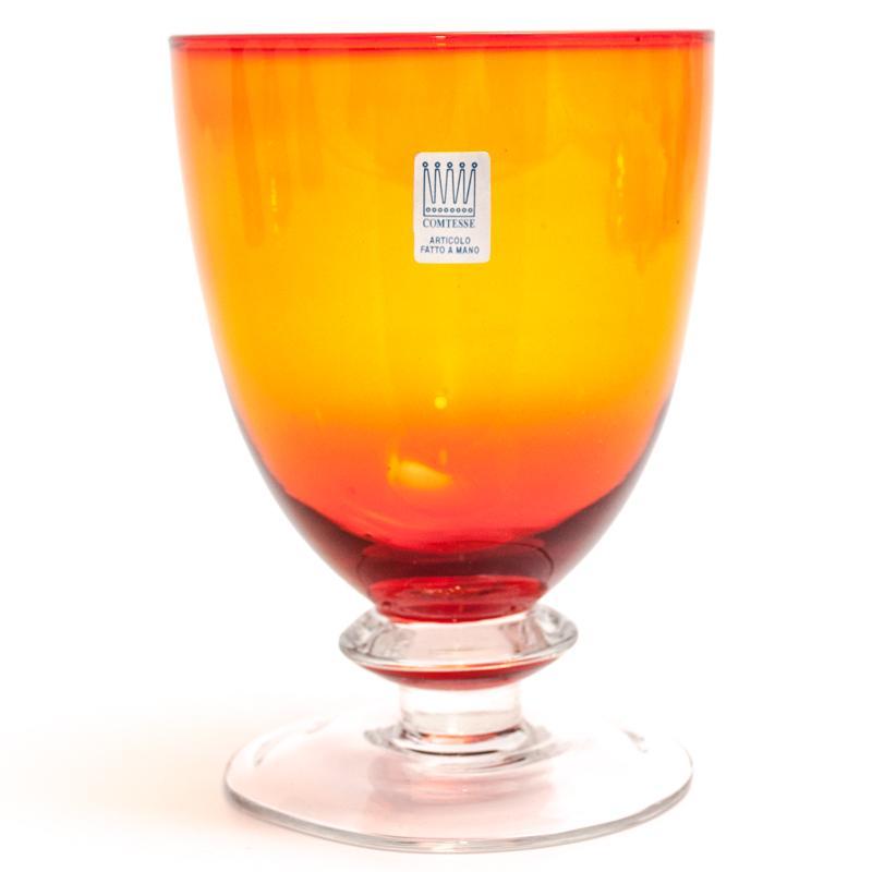 Набор из 6-ти оранжевых бокалов для вина Tahiti