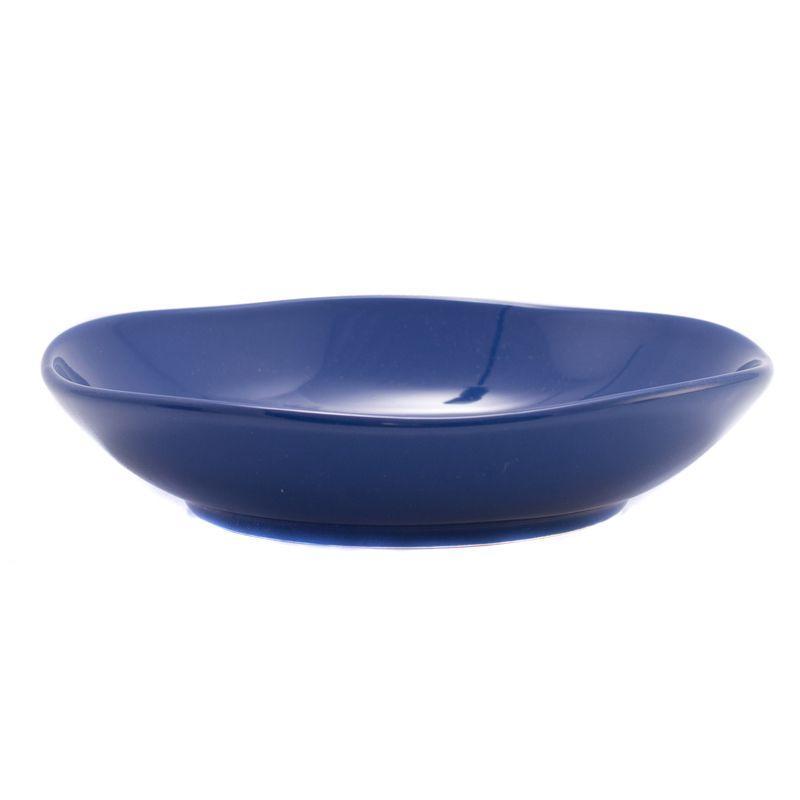 Тарелка для супа Comtesse Milano Ritmo синяя 21 см