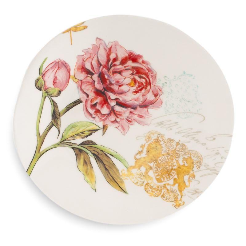 """Тарелка десертная с цветочным рисунком """"Гортензия"""""""