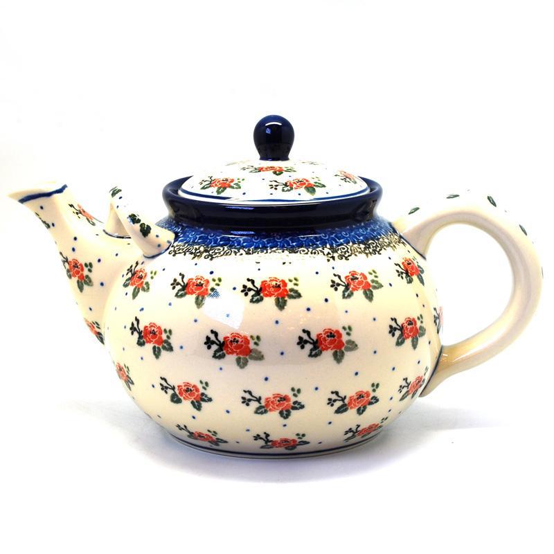 """Чайничек с рисунком из цветов """"Чайная роза"""""""