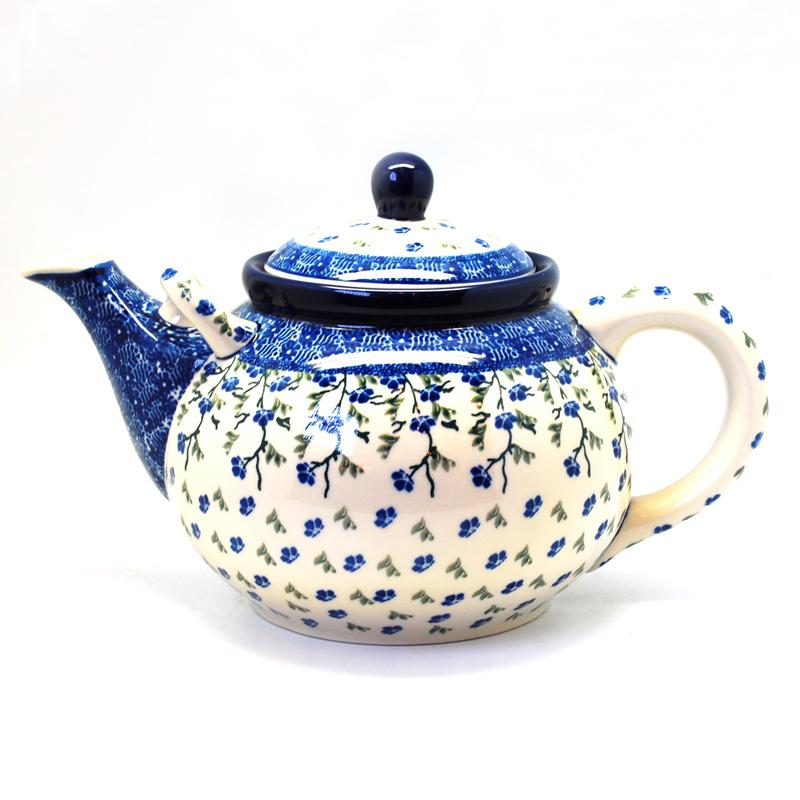 """Чайник керамический с цветочным узором """"Летний ветерок"""""""