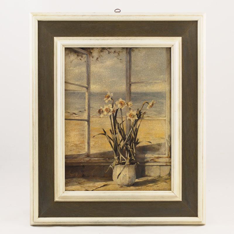 """Репродукция картины """"Окно с видом на море"""" художника Де Виленьё Фабрис"""