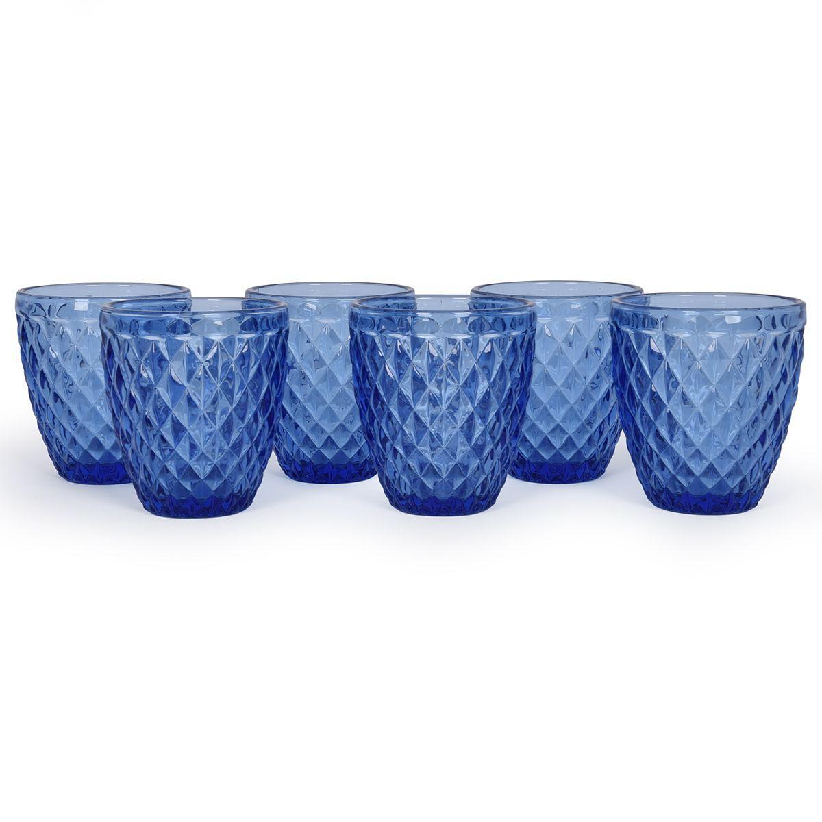 Набор синих стаканов Toscana Maison, 6 шт
