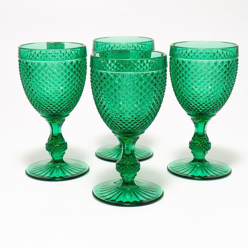 Набор из 4-х бокалов для воды зеленого цвета Vista Alegre