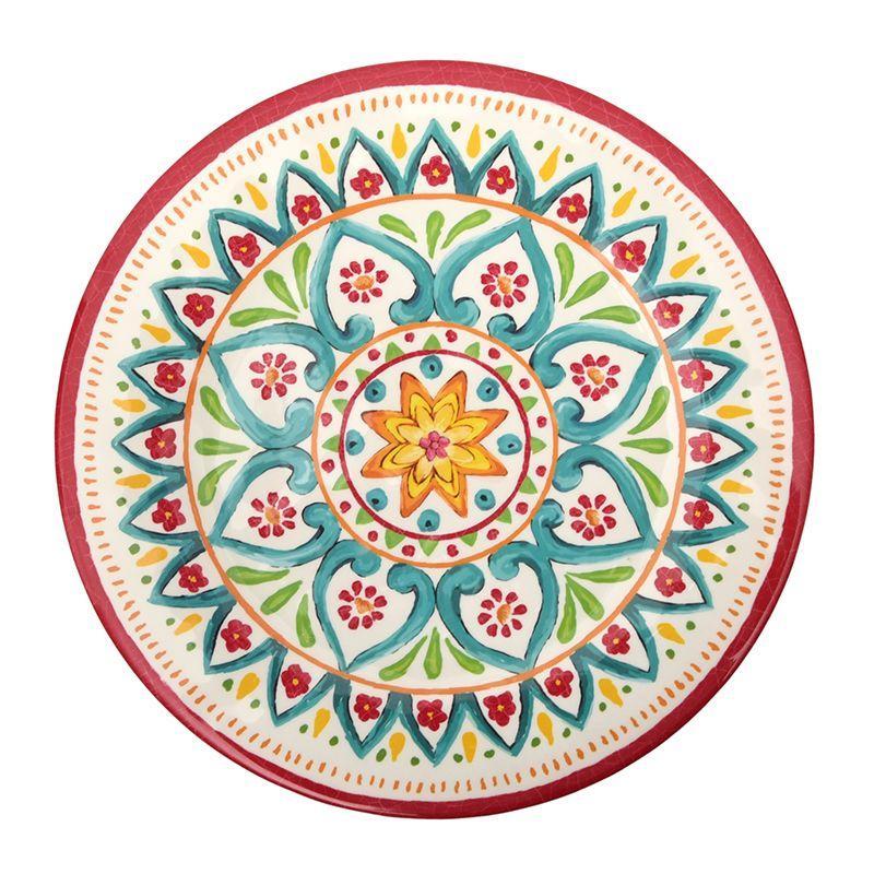 Блюдо круглое из меламинового пластика с орнаментом Maya