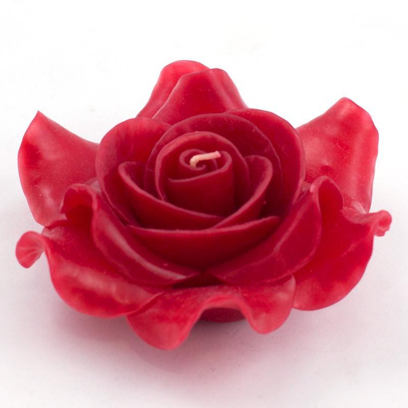 Свеча ароматическая в форме розы пурпурного цвета