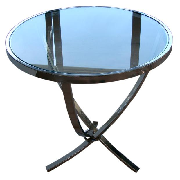 Столик стекло/никель