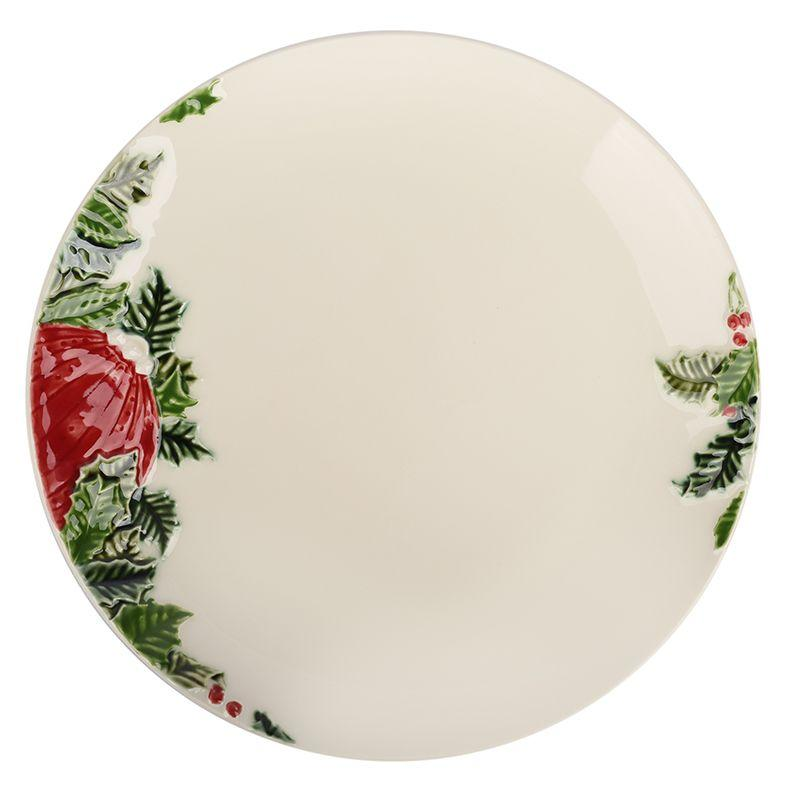 "Тарелка обеденная круглая ""Новогоднее чудо"" Bordallo"