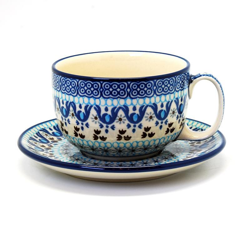 """Узорные чайные чашки с блюдцами, набор 6 шт. """"Марракеш"""""""
