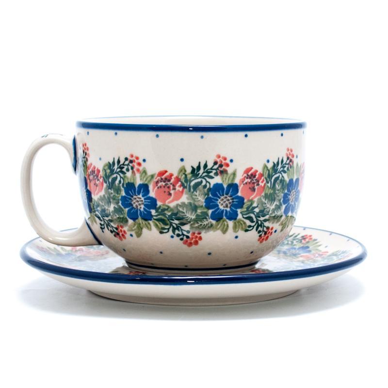 """Набор из 6-ти чайных чашек с блюдцем """"Лесной веночек"""""""