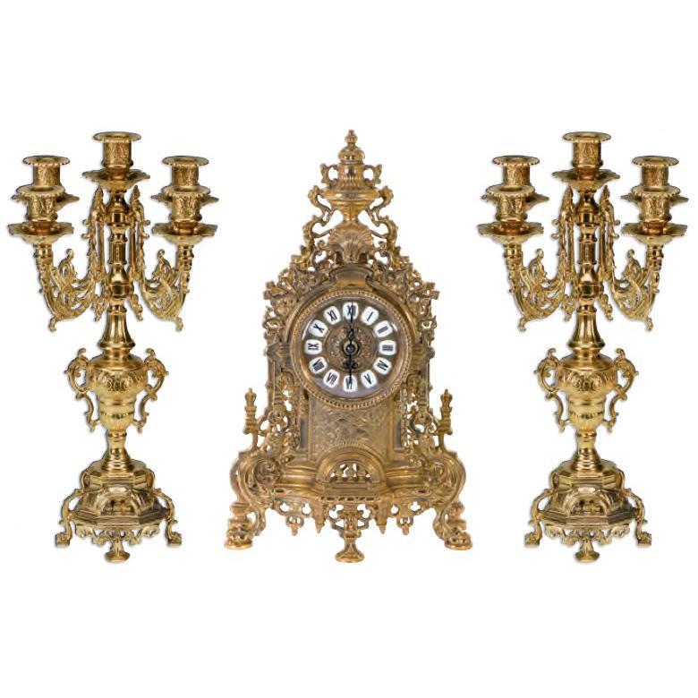 Набор часы и 2 подсвечника