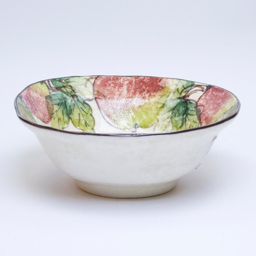 Тарелка ручной росписи Bizzirri Яблоки 20 см