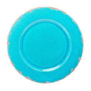 """Керамическое блюдо ярко-голубого цвета """"Помпеи"""""""
