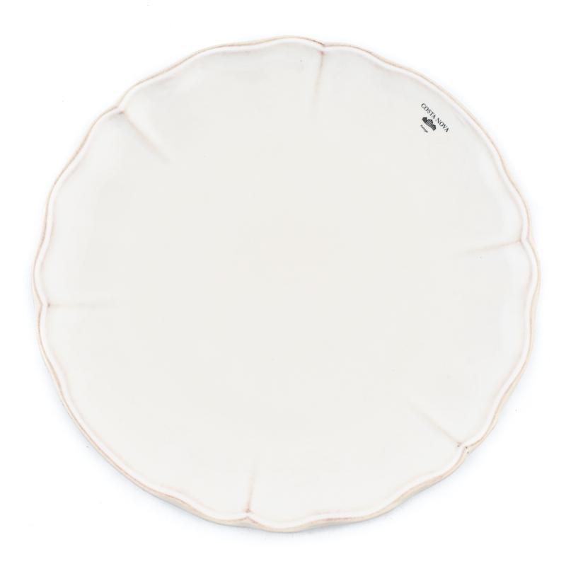 Тарелки обеденные белые, набор 6 шт. Alentejo