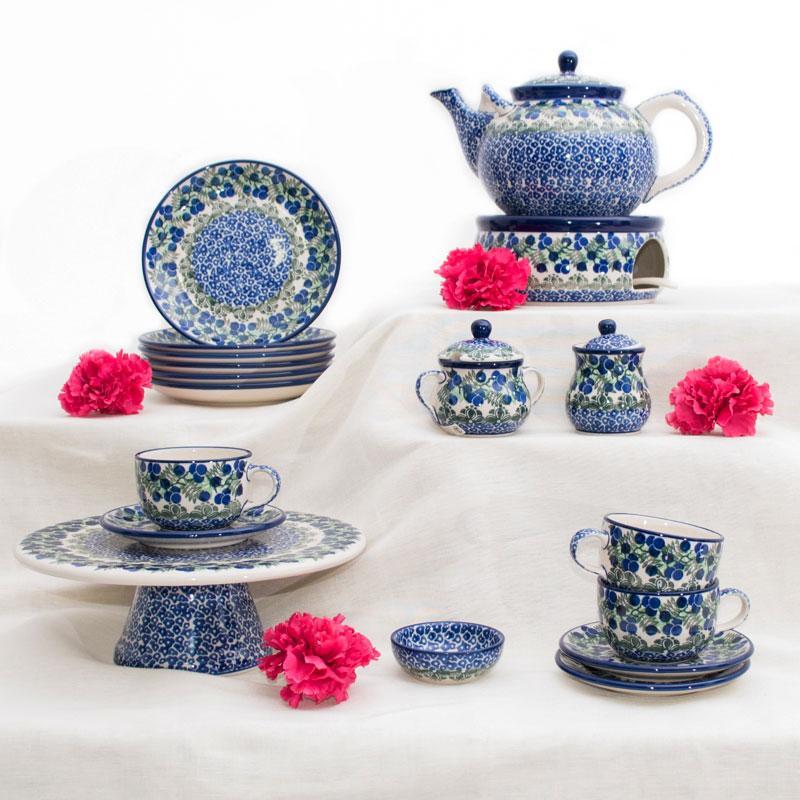 Сервиз чайный с тортовницей и чайником Ягодная поляна