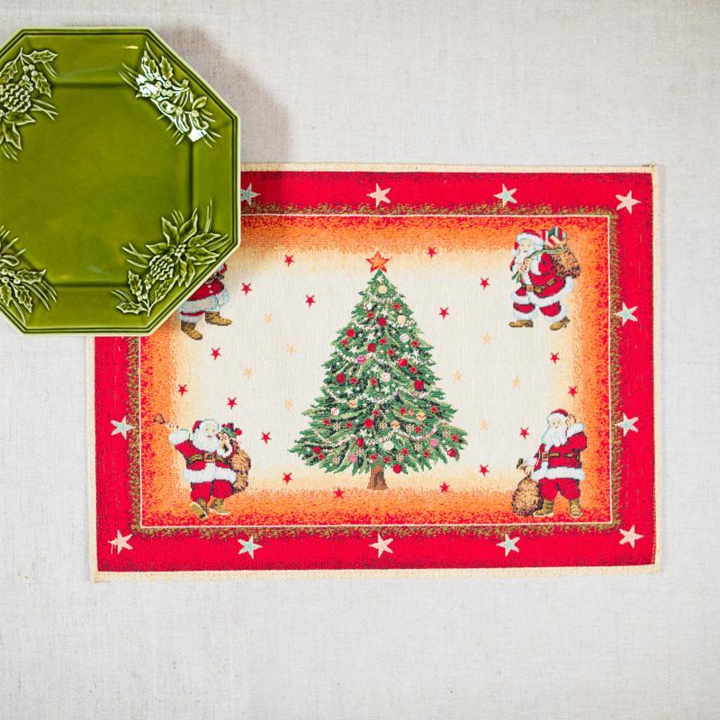 "Салфетка ""Санта Клаусы"""