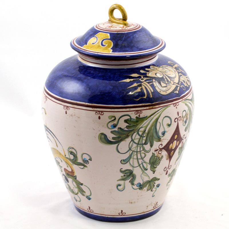 Горшок-ваза ручной работы с крышкой