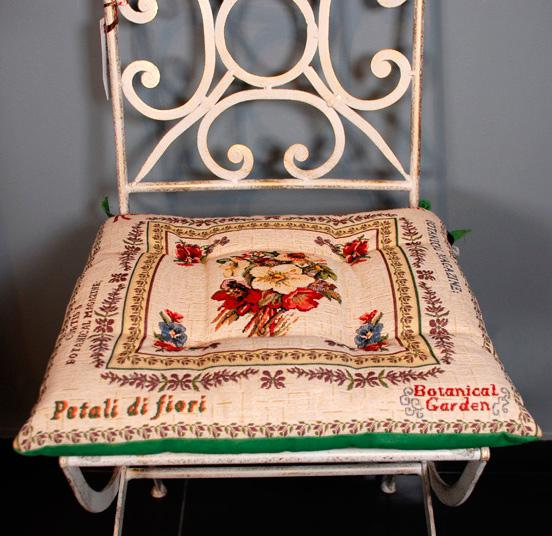 """Подушка для стула """"Ботанический сад"""""""