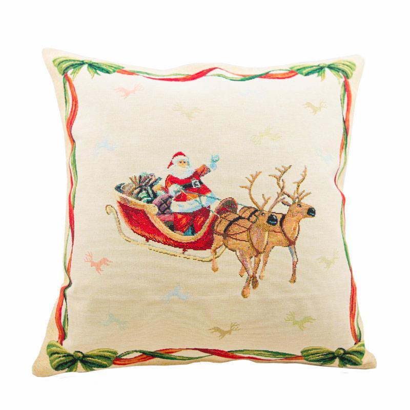 """Наволочка для подушки """"Санта на санях"""""""