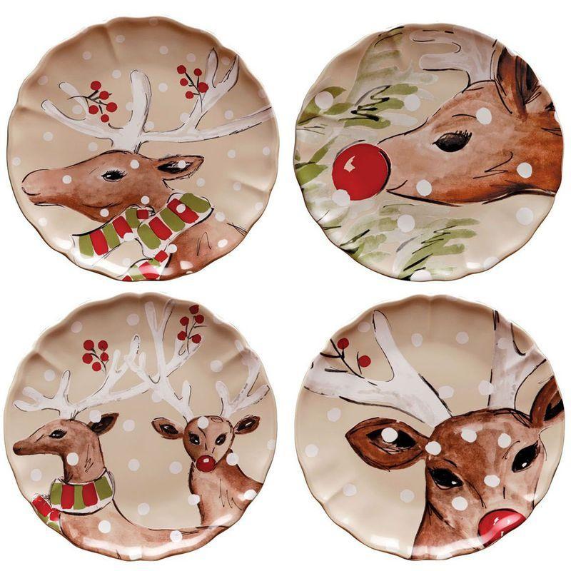 Комплект обеденных тарелок бежевый Deer Friends Casafina