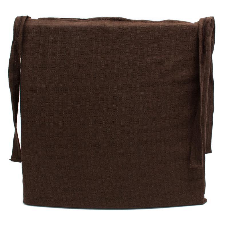 Подушка для стула коричневая