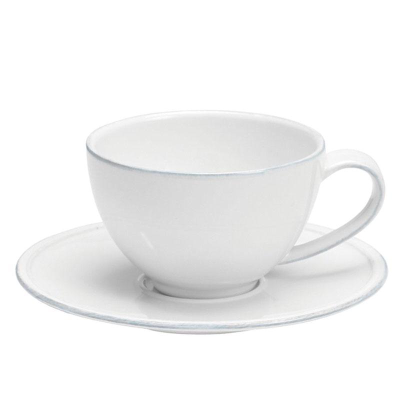 Чашки с блюдцем белые для чая, набор 6 шт. Friso