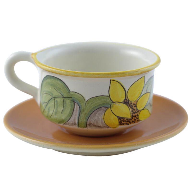 """Чашка для чая с блюдцем """"Подсолнух"""""""