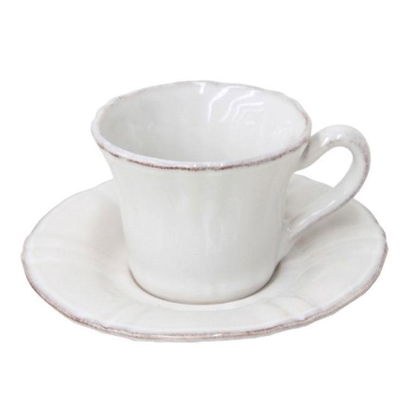 Чашки с блюдцами для кофе белые, набор 6 шт. Village