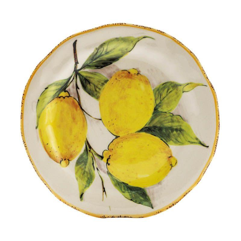 Тарелка для салата Лимоны