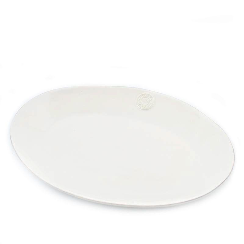 Блюдо большое овальное белое Nova