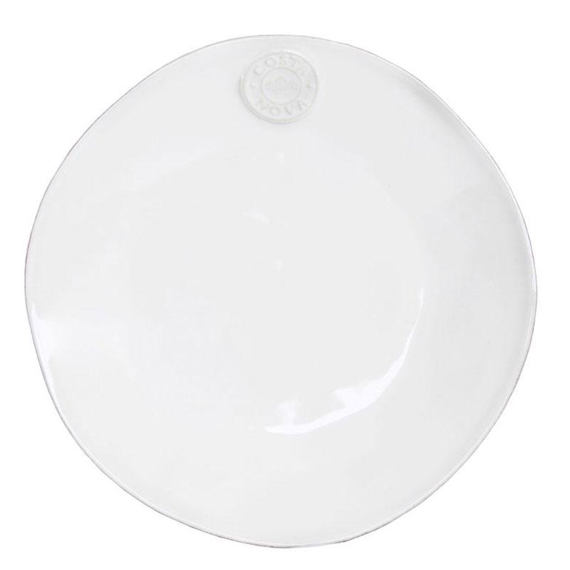 Белая тарелка Nova