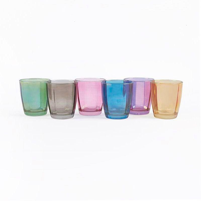 Набор из 6-ти разноцветных стаканов