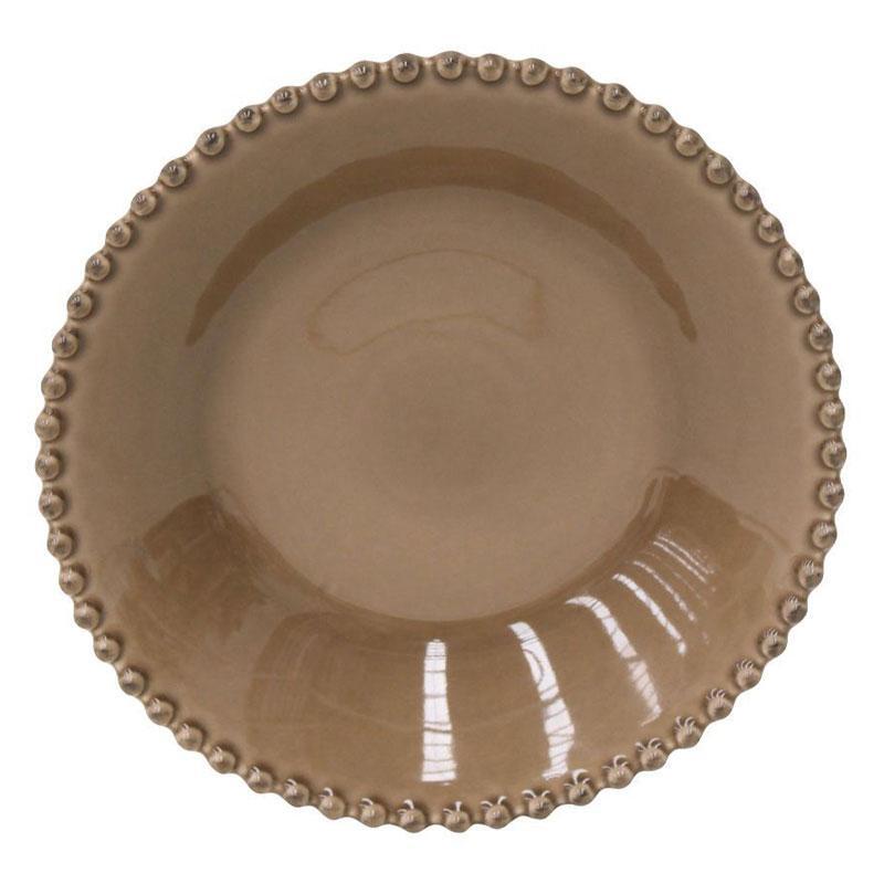 Тарелка суповая керамическая шоколадного цвета Pearl