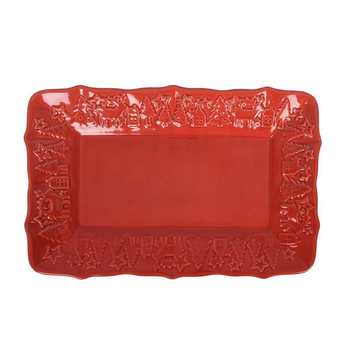 Блюдо прямоугольное красное Villa Grazia