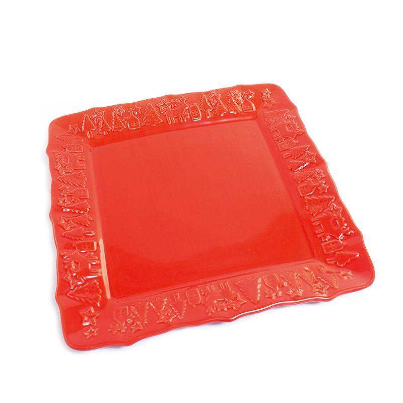 Блюдо квадратное красное Villa Grazia