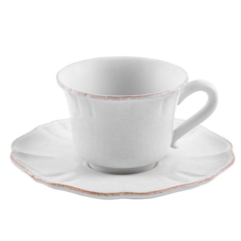 Чашка с блюдцем белая Impressions